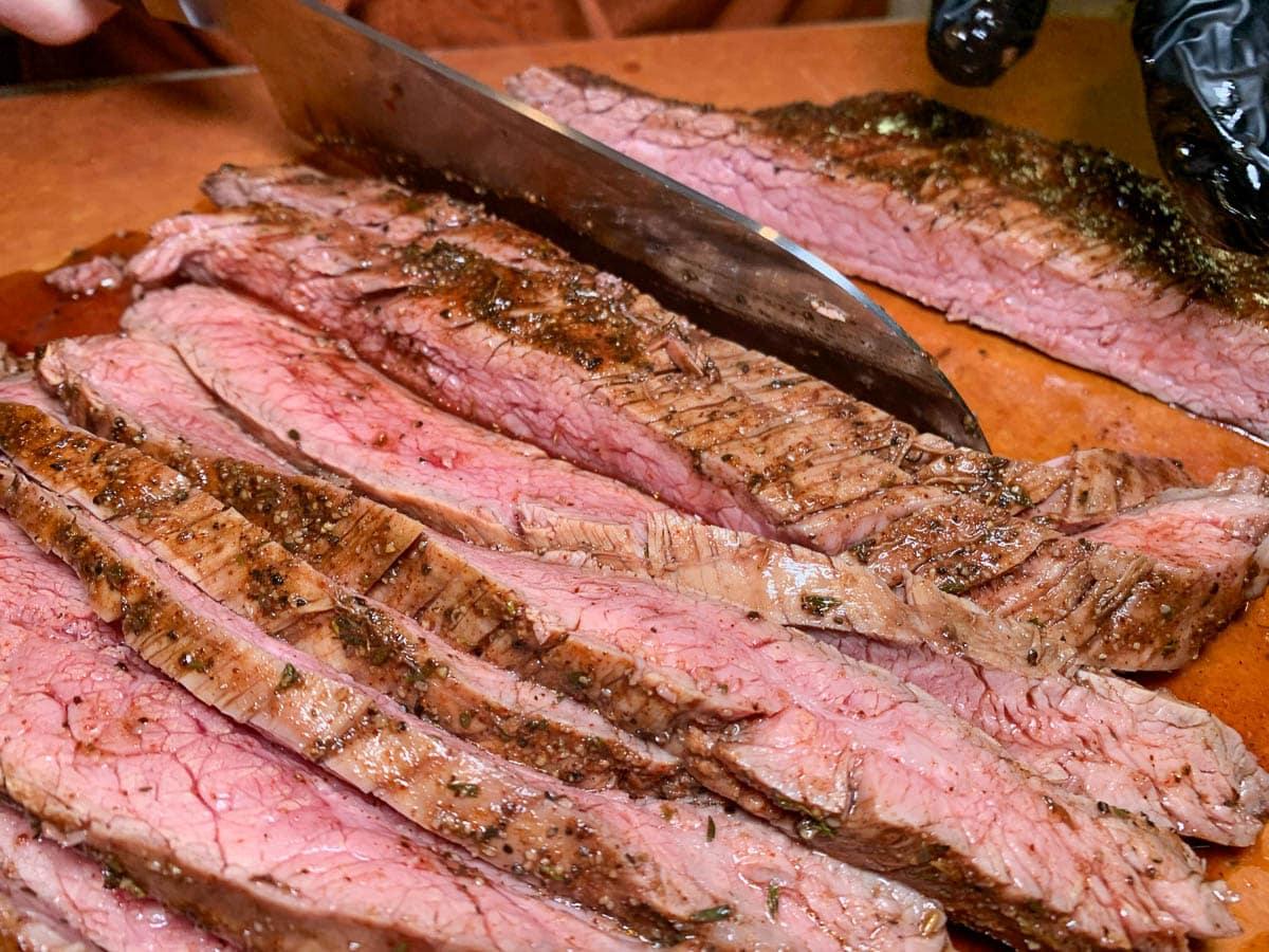 perfect sliced flank steak