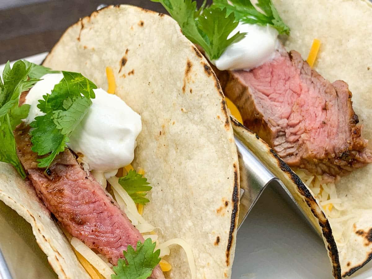 dr pepper flank steak tacos