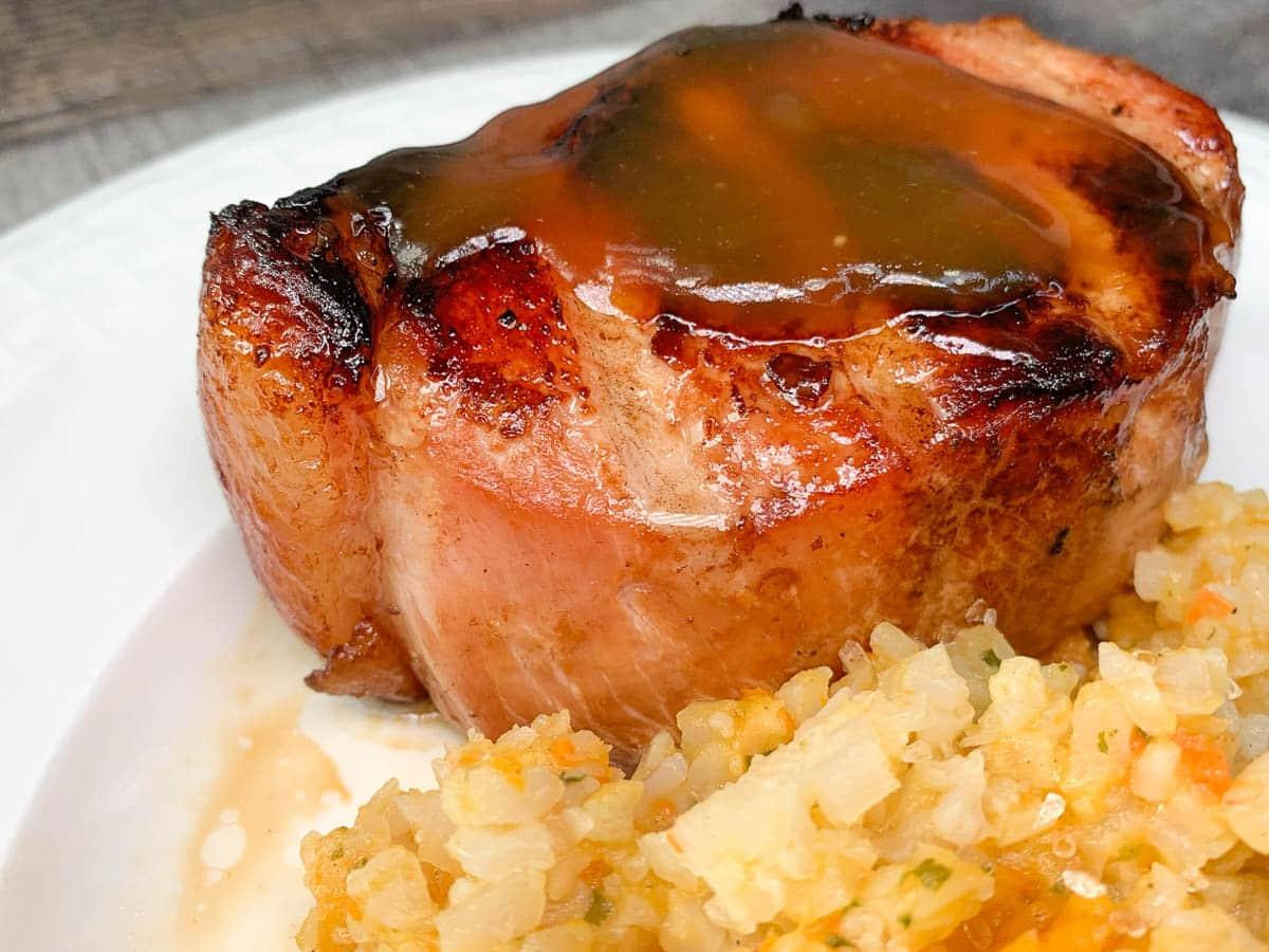 pork chop and orange sauce