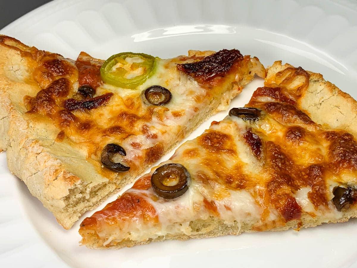 slices of gluten free pizza