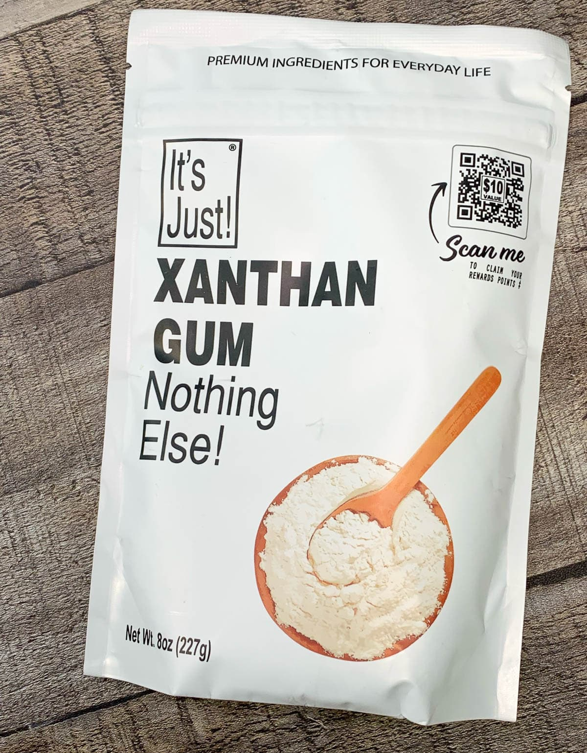 package of xanthan gum